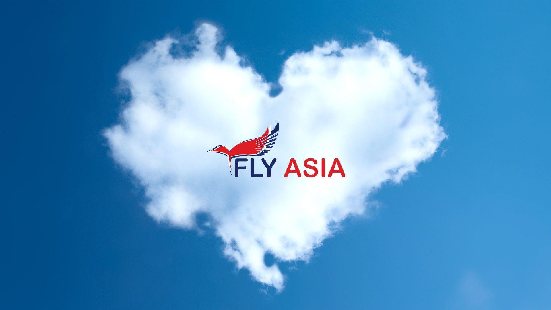 fly asia logo concept