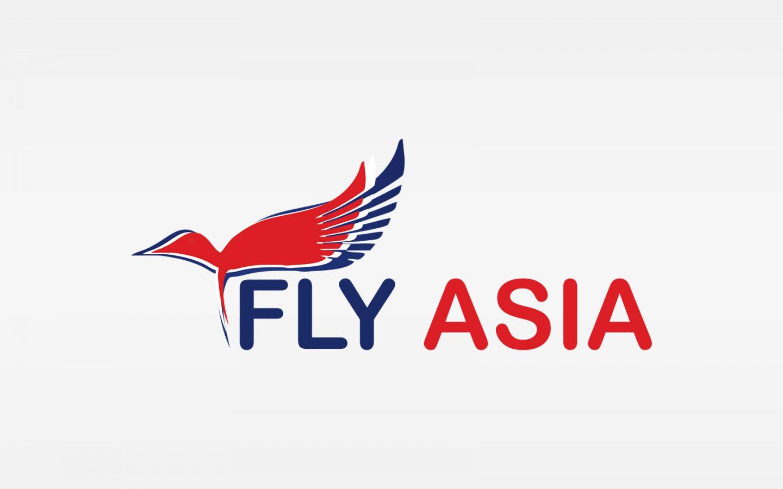 fly asia logo design concept