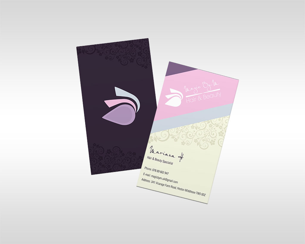 business cards magic by m