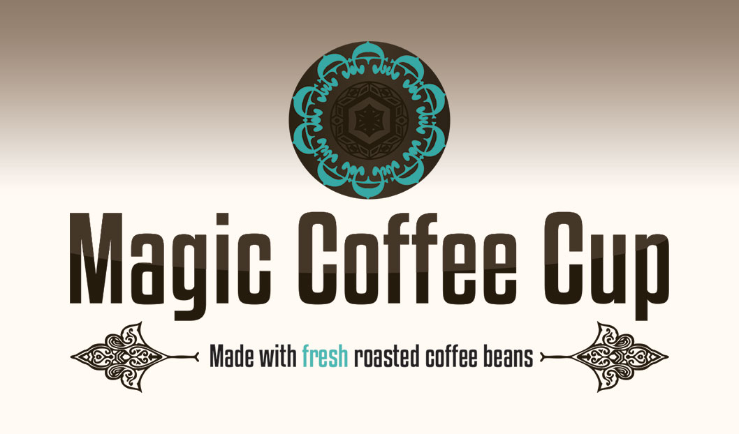 logo magic coffe cup