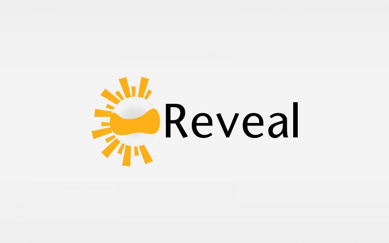 reveal logo design concept