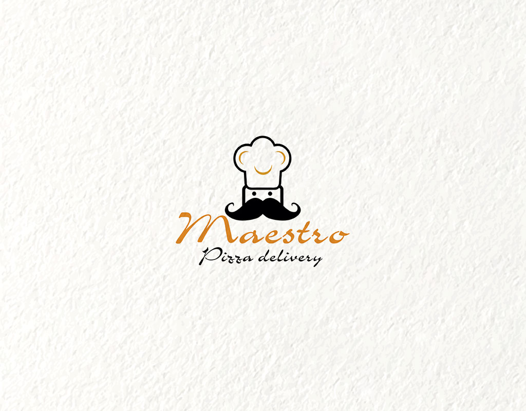 logo design concept for pizza delivery business